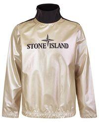 Stone Island Iridescent Logo Print Shell Sweatshirt - Multicolor