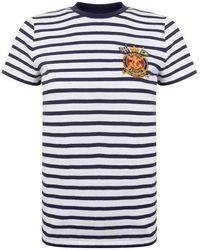 Polo Ralph Lauren - Stripe Logo Short Sleeved T Shirt - Lyst