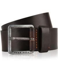 BOSS by Hugo Boss - Men's Signature Stitching Leather Belt Dark Brown - Lyst