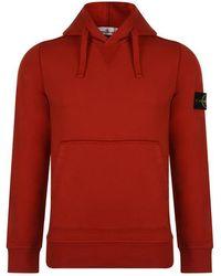 Stone Island - Badge Hooded Sweatshirt - Lyst
