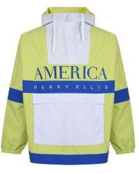 Perry Ellis Quarter Zip Nylon Jacket - Multicolour