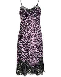 McQ Lace Slip Dress - Purple