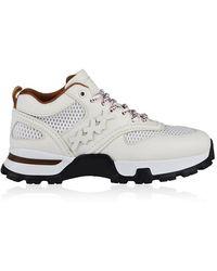 Ermenegildo Zegna Leather Cesare Trainers - White