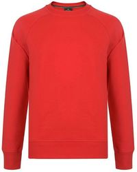 PS by Paul Smith Reflective Logo Sweatshirt - Red