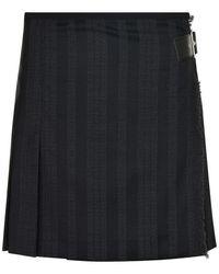 McQ - Kilt Pleat Mini Skirt - Lyst