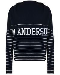 JW Anderson Logo Knitted Sweater - Blue