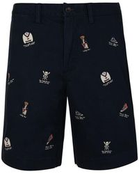 Polo Ralph Lauren Embroidered Shorts - Blue