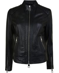 BOSS Orange - Biker Lambskin Nappa Leather Jacket - Lyst