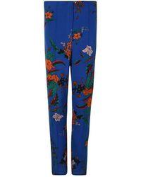Diane von Furstenberg Floral Skinny Pants - Blue