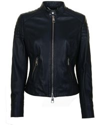 BOSS by Hugo Boss - Junique Leather Jacket - Lyst