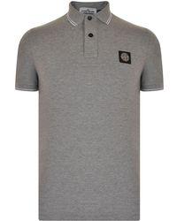 Stone Island - Tipped Badge Logo Polo Shirt - Lyst