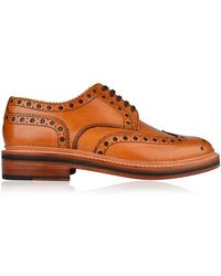 Grenson Archie Brogue Derby Shoes - Brown