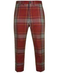Vivienne Westwood Tartan Trousers - Red