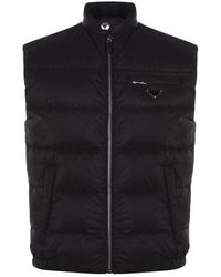 buy online 8aea1 9f102 Prada Goose Piumino Pelleovo Jacket in Black for Men - Lyst