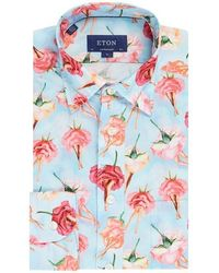 Eton of Sweden Rose Lady Shirt - Blue