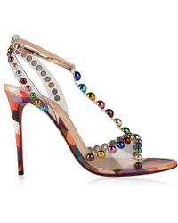Christian Louboutin Faridaravie Pvc Heeled Sandals - Multicolour