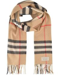 Burberry Giant Icon Check Cashmere Scarf - Natural