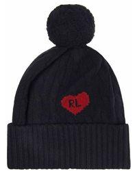 Polo Ralph Lauren Polo Heart Pom Hat Ld94 - Blue