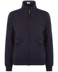 C P Company Full Zip Lens Arm Track Jacket - Blue