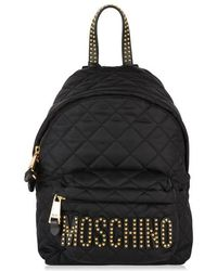 Moschino Quilted Stud Backpack - Black