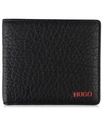 HUGO Textured Billfold Wallet - Black