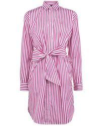 Polo Ralph Lauren Polo Stripe Dress Ld01 - Pink
