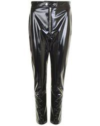 MSGM Vinyl Skinny Trousers - Black