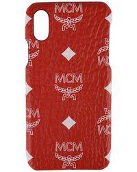 MCM - Logo Print Iphone X Case - Lyst