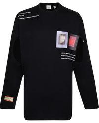 Burberry Cut-out Cotton T-shirt - Black