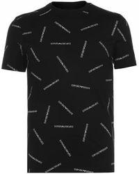 Emporio Armani Logo-print T-shirt - Black