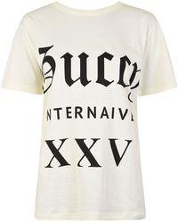 429b367814bb Gucci - Guccy Internaive Logo T Shirt - Lyst