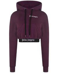 Palm Angels Logo Hoodie - Purple