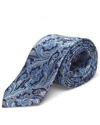Eton of Sweden Pais Slk Tie Sn92 - Blue