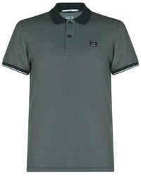 C P Company Short Sleeve Polo Shirt - Green