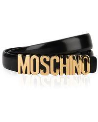 Moschino Small Logo Belt - Black
