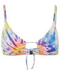 Polo Ralph Lauren Loop Front Tie Bikini Top - Blue