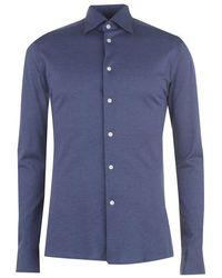 Eton of Sweden - Pique Long Sleeved Shirt - Lyst