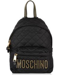 Moschino - Quilted Stud Backpack - Lyst