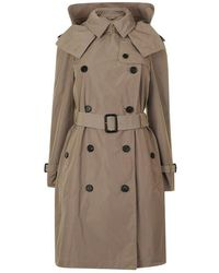 Burberry - Amberford Hooded Trench Coat - Lyst