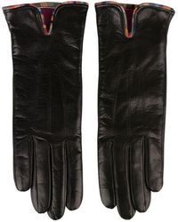 Paul Smith Leather Gloves - Black