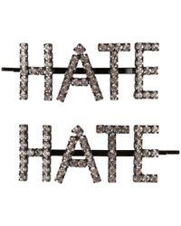 Ashley Williams - Hate Hair Clips - Lyst