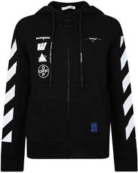Off-White c/o Virgil Abloh Faceless Graphic Zip Sweatshirt - Black