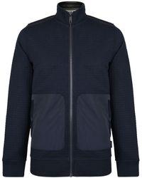Ted Baker - Quilt Zip Through Sweatshirt - Lyst