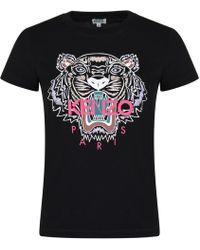 KENZO - Tiger Logo T Shirt - Lyst