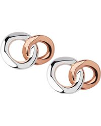 Links of London - 20 20 Sterling Silver And 18kt Rose Gold Stud Earrings - Lyst