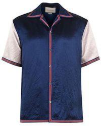 Gucci Short Sleeve Gg Star Bowling Shirt - Blue