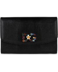 403f6305c04d Dolce   Gabbana - Iguana Print Chain Wallet Bag - Lyst