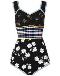 Marni Floral Bodysuit - Black