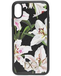 Dolce & Gabbana Lilium Iphone X Xs Case - Black