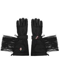 3 MONCLER GRENOBLE Tassel Gloves - Black